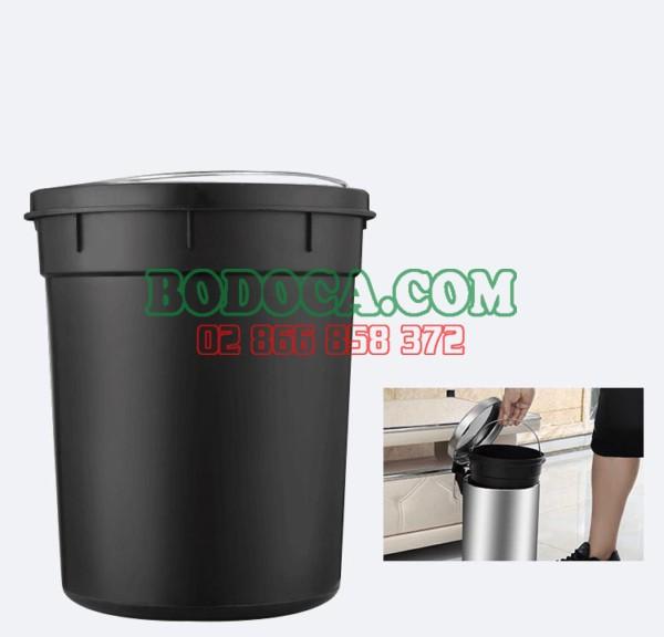 Thùng rác đạp chân 7 lít inox dùng trong khách sạn giá rẻ 5