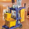 Xe đẩy làm vệ sinh nhựa trường học AF08160- Bodoca