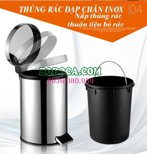 Chuyên cung cấp thùng rác inox văn phòng 30l giá rẻ KMR30