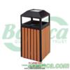 Thùng rác gỗ đơn ngoài trời cao cấp- Bodoca